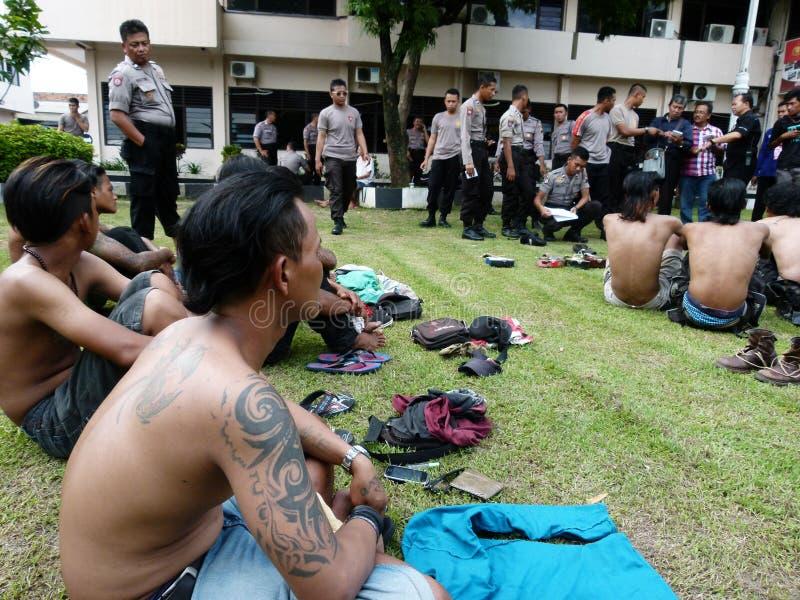 Grupos prendidos polícia imagem de stock royalty free