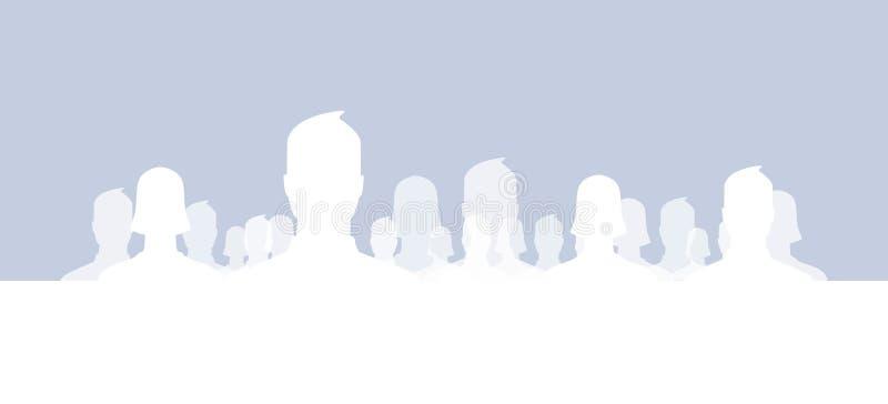 Grupos sociales de la red ilustración del vector