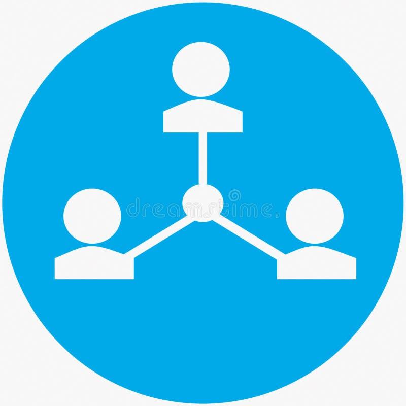 Grupos y comunidades en redes sociales stock de ilustración