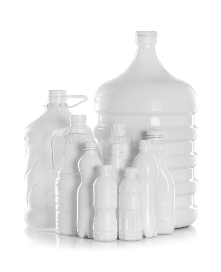 Grupowa butelka wodny pakować zdjęcia royalty free
