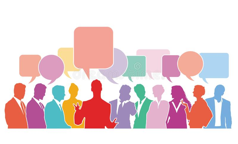 Grupowa dyskusja ilustracja wektor