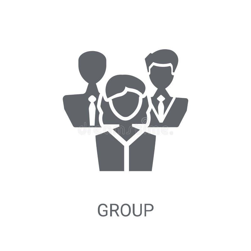 Grupowa ikona Modny Grupowy logo pojęcie na białym tle od H ilustracja wektor