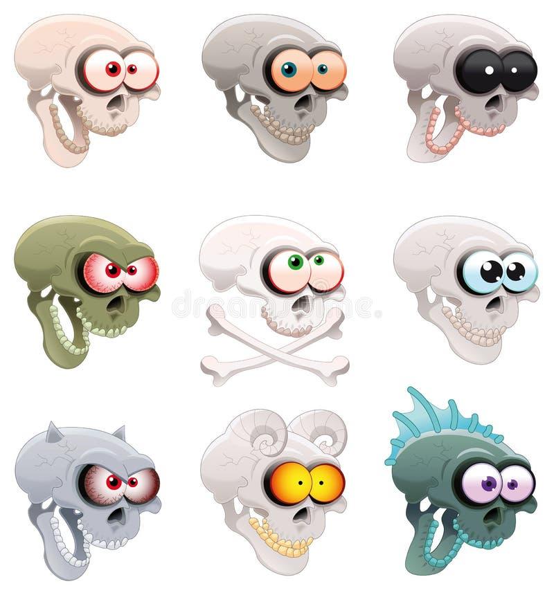 grupowe czaszki royalty ilustracja