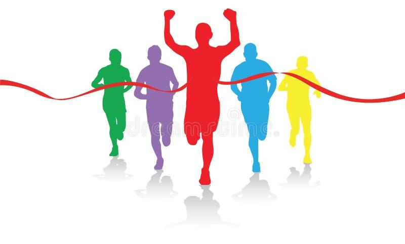 grupowi biegacze royalty ilustracja