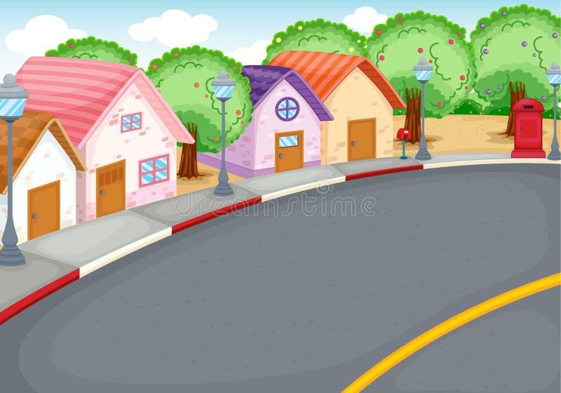 grupowi domy ilustracja wektor