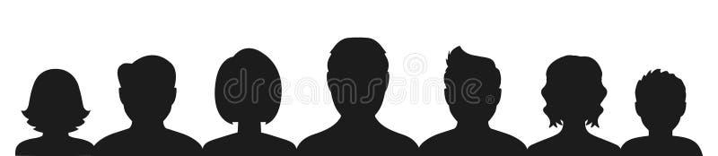 Grupowi ludzie ikona setu Praca zespołowa, personel, partnerstwo - wektor ilustracja wektor