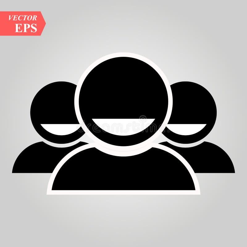 Grupowi ludzie, osoby ikona Przyjaciela znak Round wektorowy sieć symbol Logo ilustracja royalty ilustracja