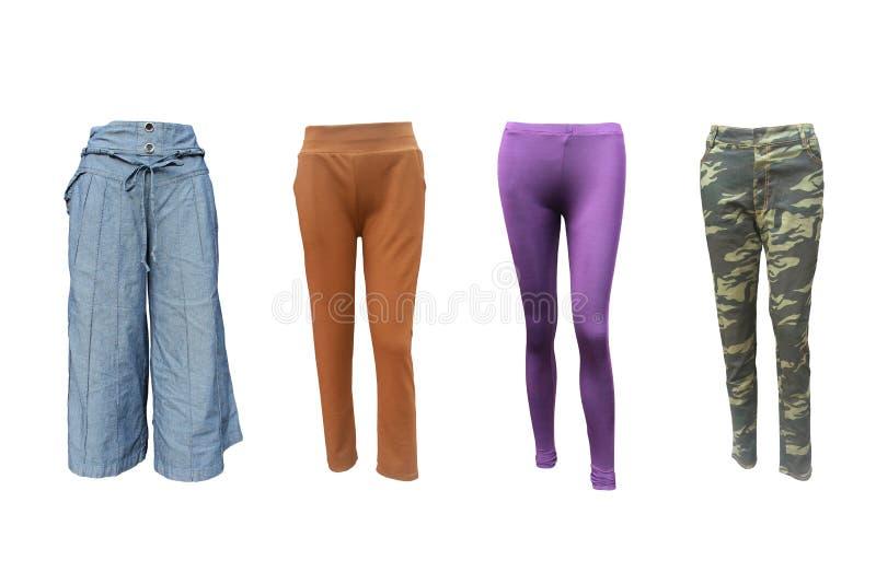 Grupowi pantaloons na odosobnionym obrazy stock