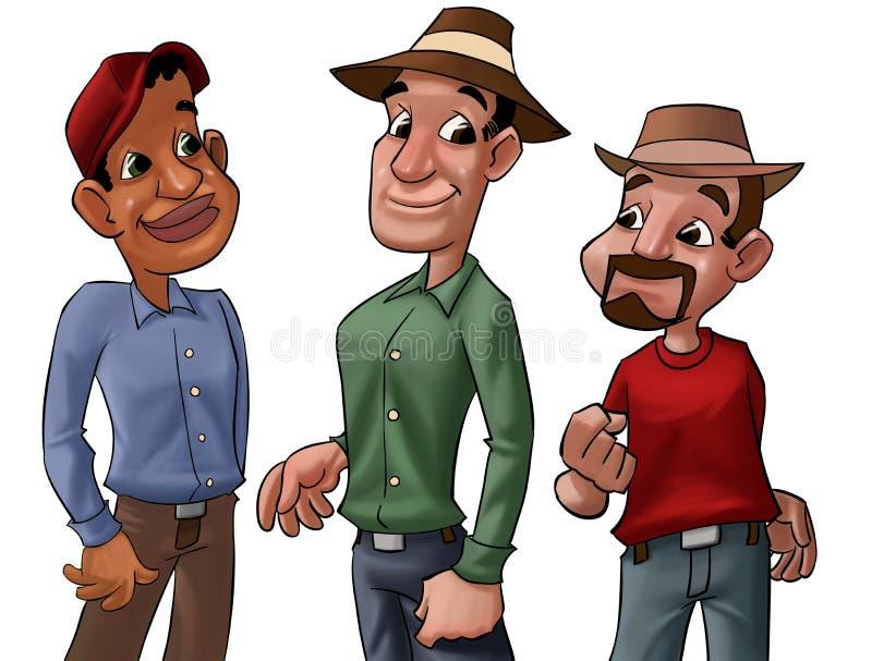 grupowi pracownicy ilustracji