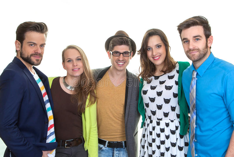 Grupowi szczęśliwi młodzi ludzie zdjęcie royalty free