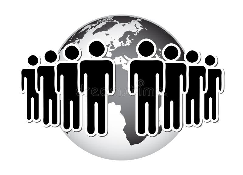 grupowy świat ilustracji