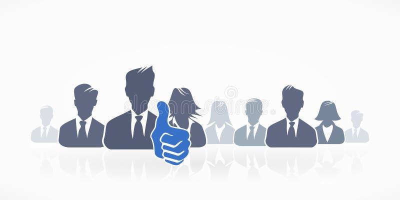 Grupowy avatar ilustracja wektor