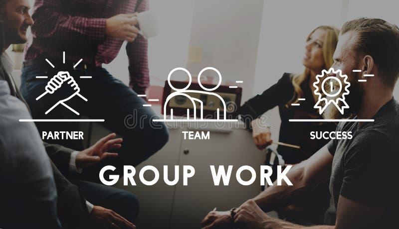 Grupowy Drużynowy pracy organizaci pojęcie zdjęcia stock
