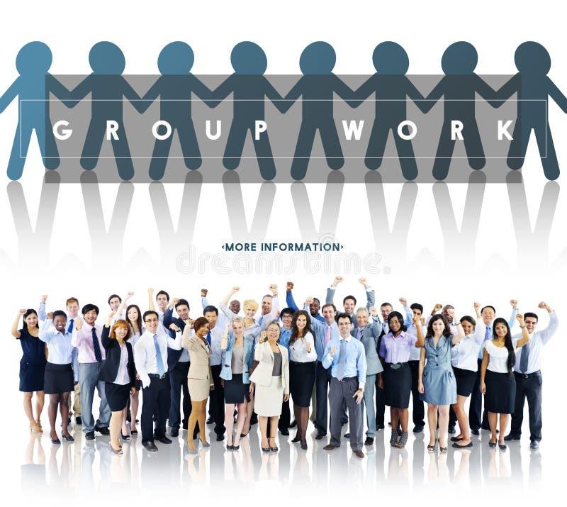 Grupowy Drużynowy pracy organizaci pojęcie zdjęcie stock
