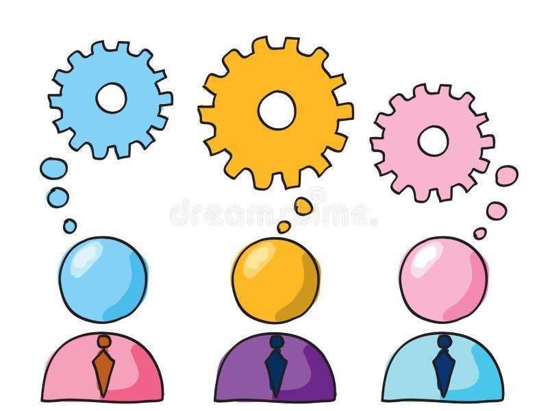Grupowy główkowanie ilustracji