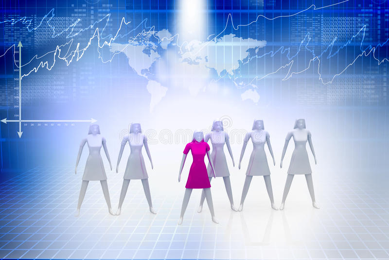 grupowy lider ilustracja wektor