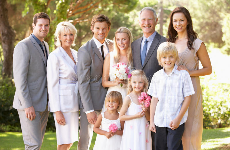 grupowy rodzina ślub obrazy stock