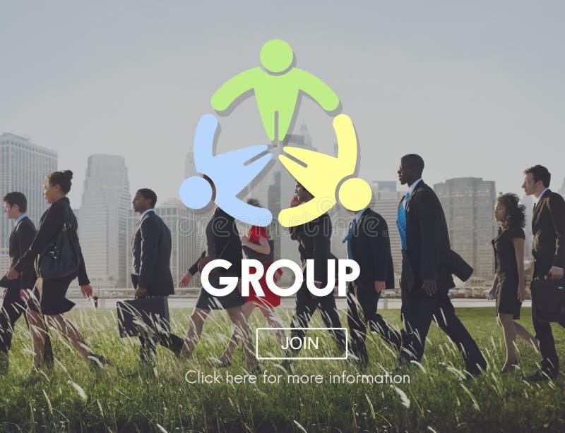 Grupowy społeczność współpracy społeczeństwa drużyny pojęcie zdjęcia stock