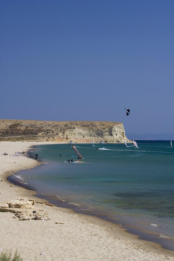 grupowy windsurfer zdjęcie stock