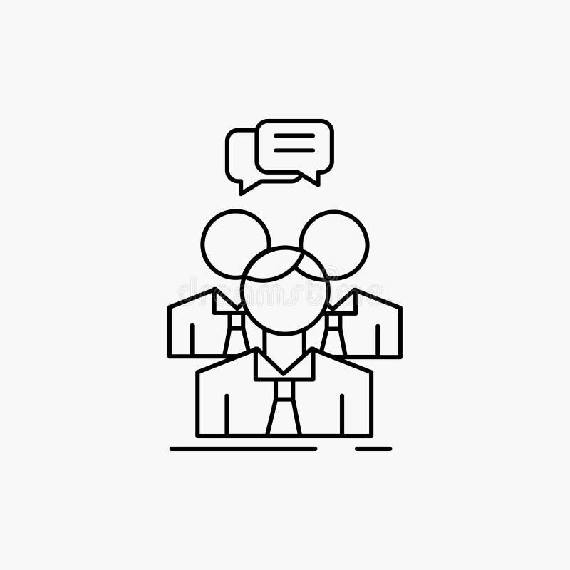 grupp affär, möte, folk, laglinje symbol Vektor isolerad illustration royaltyfri illustrationer