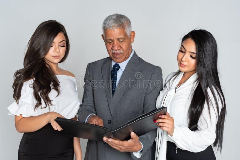 Grupp av affären Team Members Working royaltyfria foton