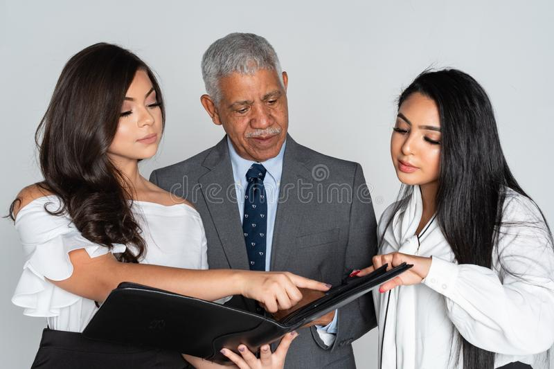Grupp av affären Team Members Working royaltyfri fotografi