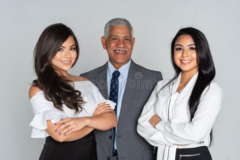 Grupp av affären Team Members Working royaltyfri foto