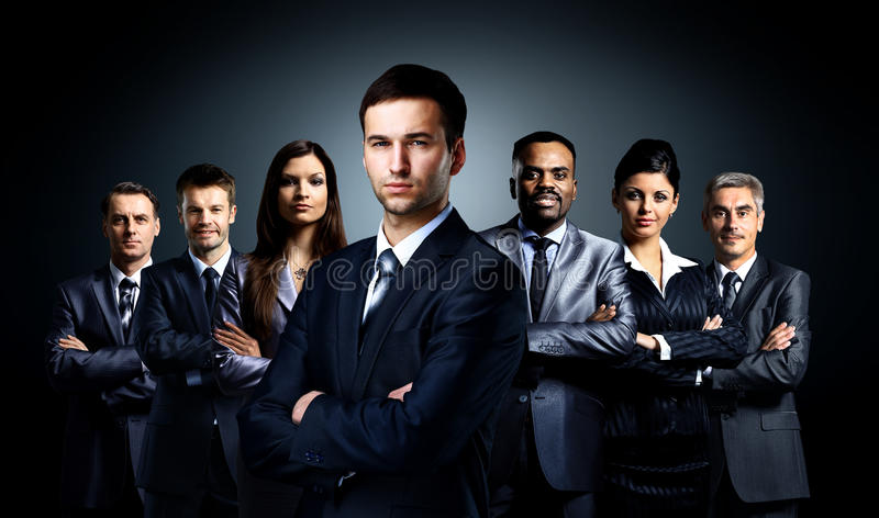 Grupp av affärsfolk royaltyfri foto