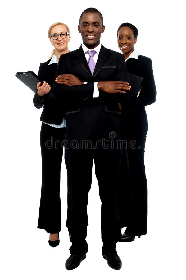 Grupp av affärsfolk. Affärslag royaltyfri fotografi