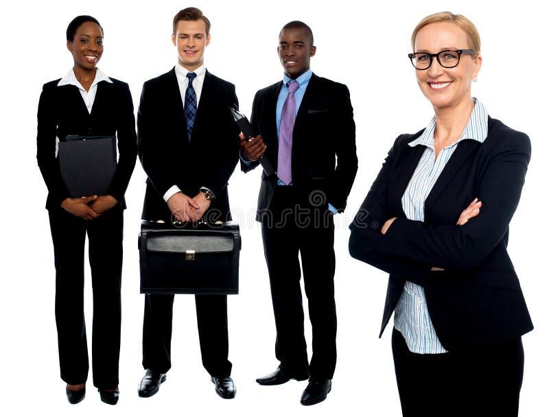 Grupp av affärsfolk. Affärslag royaltyfria foton