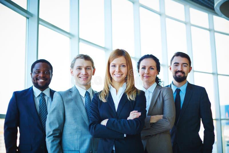 Grupp av anställda arkivfoton