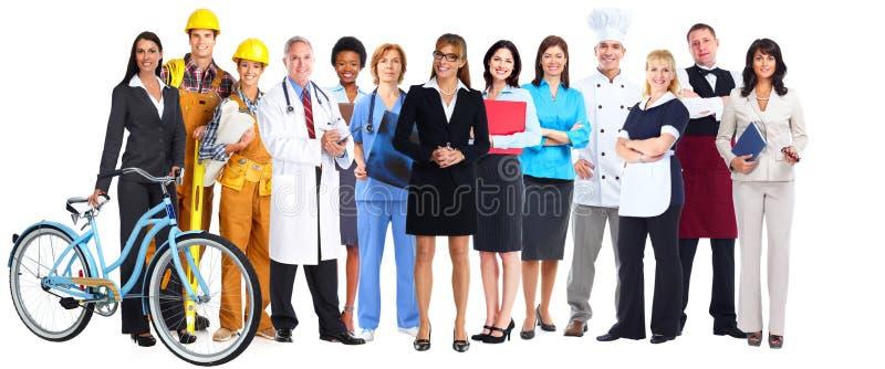 Grupp av arbetarfolk royaltyfria foton