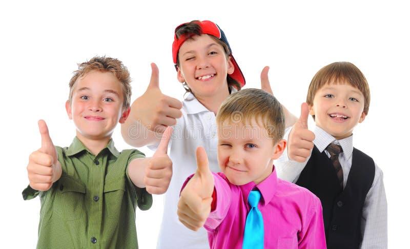 Grupp av att posera för barn royaltyfri bild