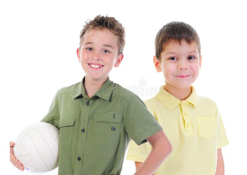 Grupp av att posera för barn arkivfoton