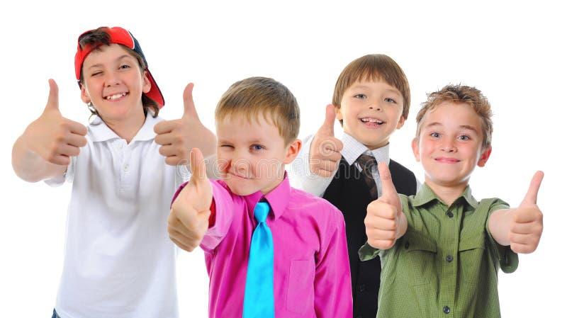 Grupp av att posera för barn royaltyfria bilder
