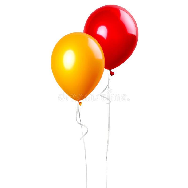Grupp av ballonger royaltyfri illustrationer