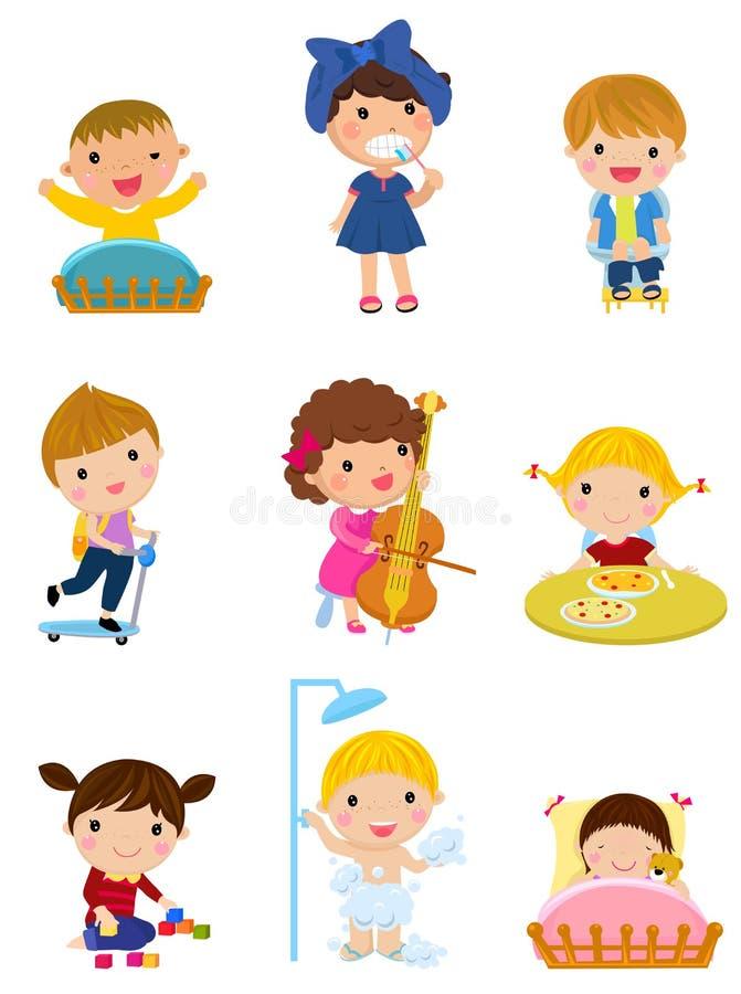 Grupp av barn royaltyfri illustrationer