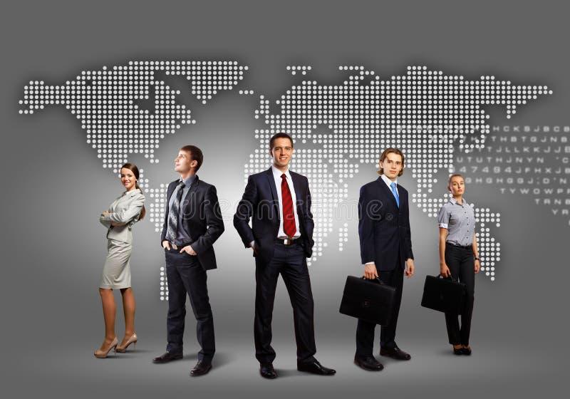 Grupp av businesspeople royaltyfria bilder
