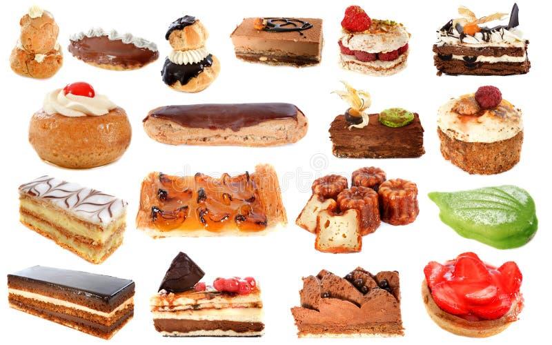 Grupp av cakes royaltyfria bilder