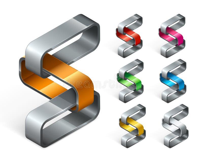Grupp av den abstrakta logodesignen royaltyfri illustrationer