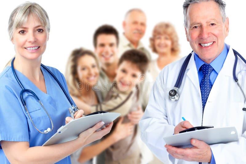 Grupp av den medicinska doktorn. arkivfoton