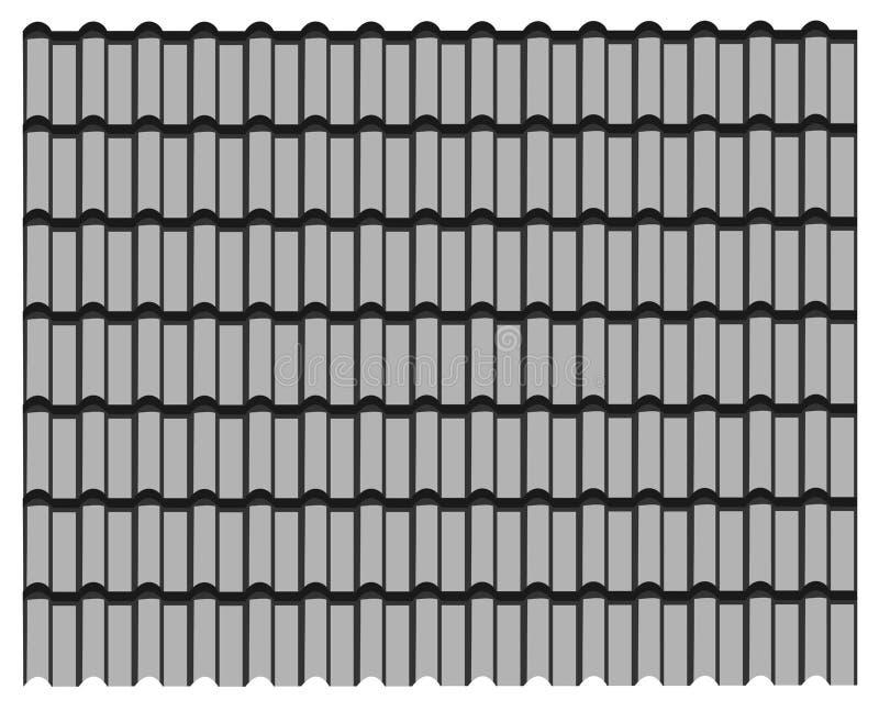Grupp av det gråa tegelplattataket, bakgrund för modelltexturgrå färger royaltyfri illustrationer