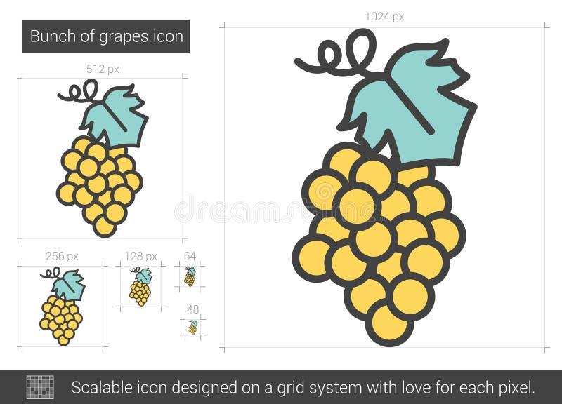 Grupp av druvalinjen symbol stock illustrationer