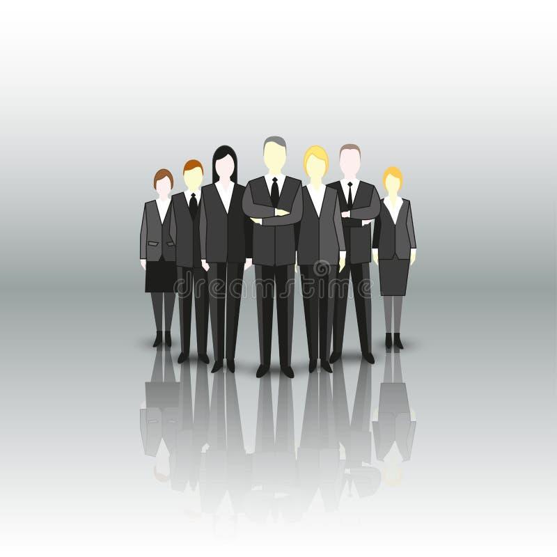 Grupp av ett yrkesmässigt affärslag tecken royaltyfri illustrationer