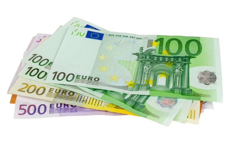 Grupp av EUR-sedlar fotografering för bildbyråer