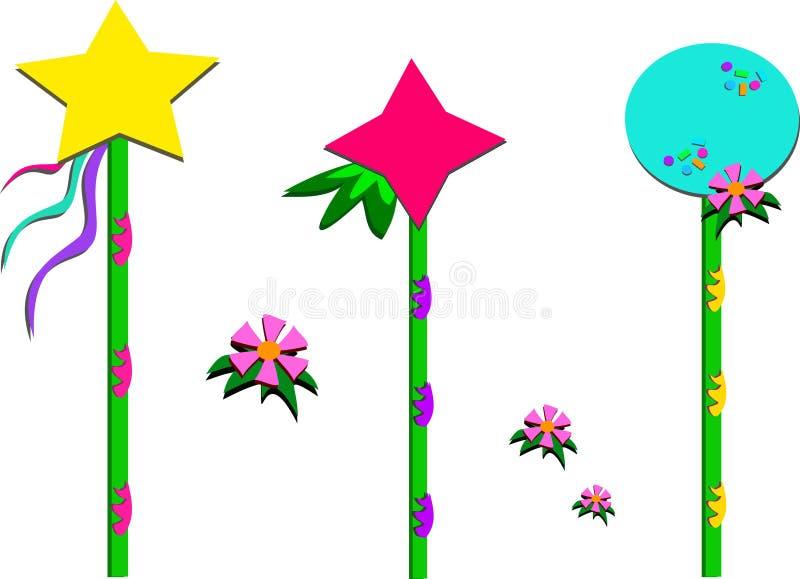 Download Grupp av färgrika Poles stock illustrationer. Illustration av banderoller - 27288208