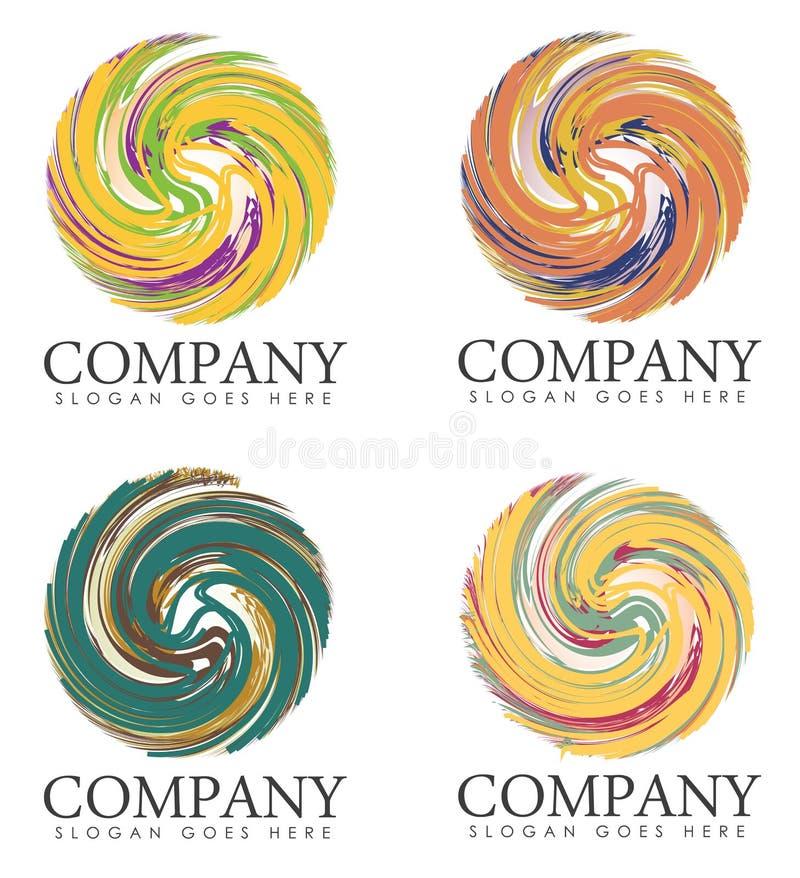 Grupp av företagssloganlogoer vektor illustrationer