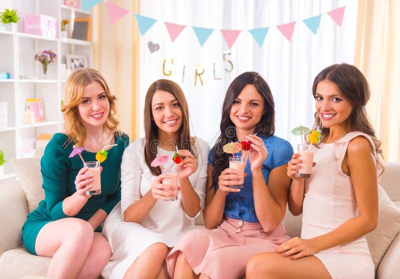 Grupp av flickor royaltyfri foto