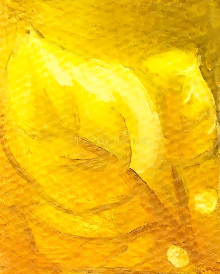 Grupp av guld- sidor som målar detaljen med grafisk effekt arkivfoto