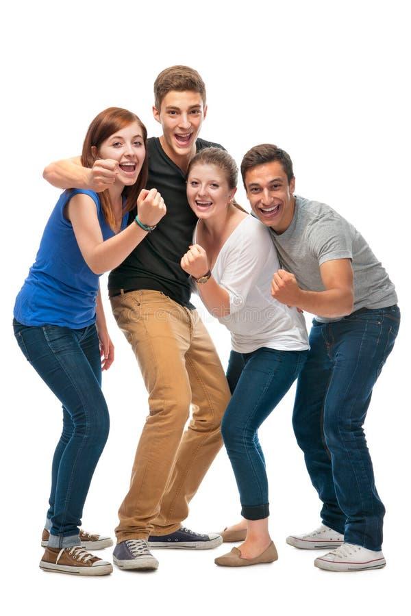 Grupp av högskolestudenterna arkivfoton
